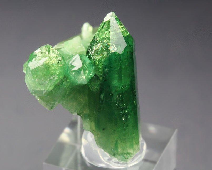 gem VESUVIANITE var. CHROMIAN